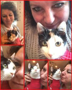 Sancha Schuurs en kat